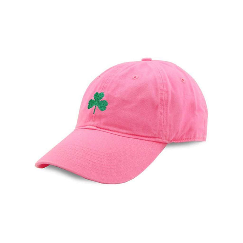 Hats/Visors - Shamrock Needlepoint Hat In Pink By Smathers & Branson