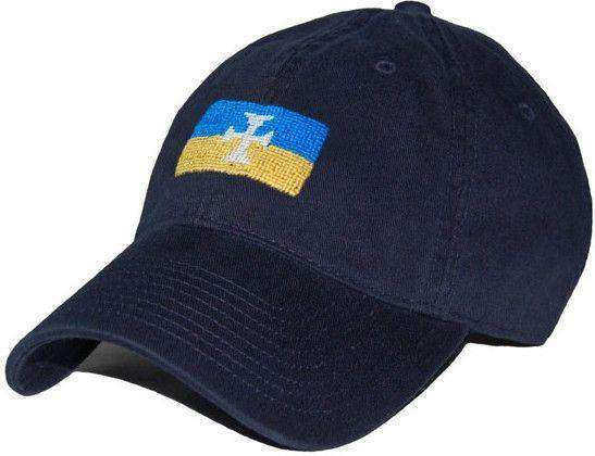 Hats/Visors - Sigma Chi Needlepoint Hat In Navy By Smathers & Branson