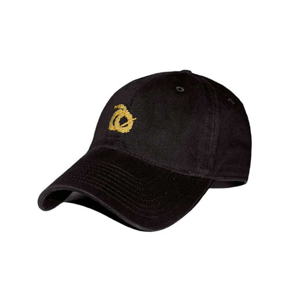 Sigma Nu Needlepoint Hat in Black by Smathers & Branson