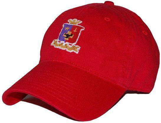 Sigma Phi Epsilon Needlepoint Hat in Red by Smathers & Branson