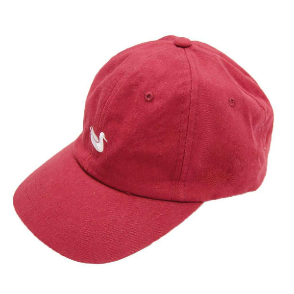 Hats/Visors - Signature Hat In Maroon With White Duck By Southern Marsh