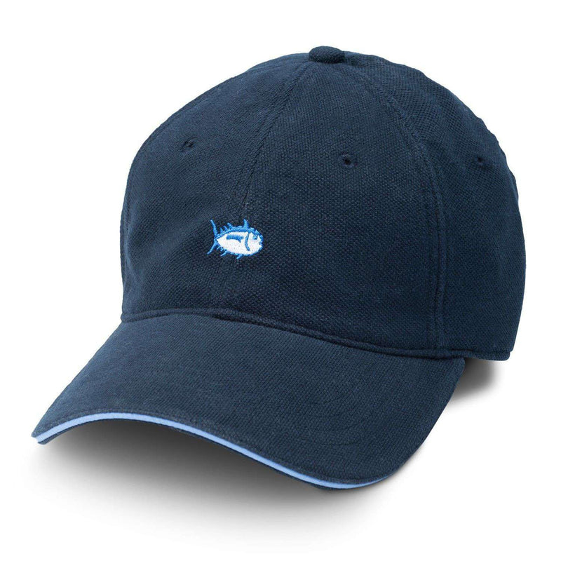 Skipjack Pique Fitted Hat in Navy by Southern Tide