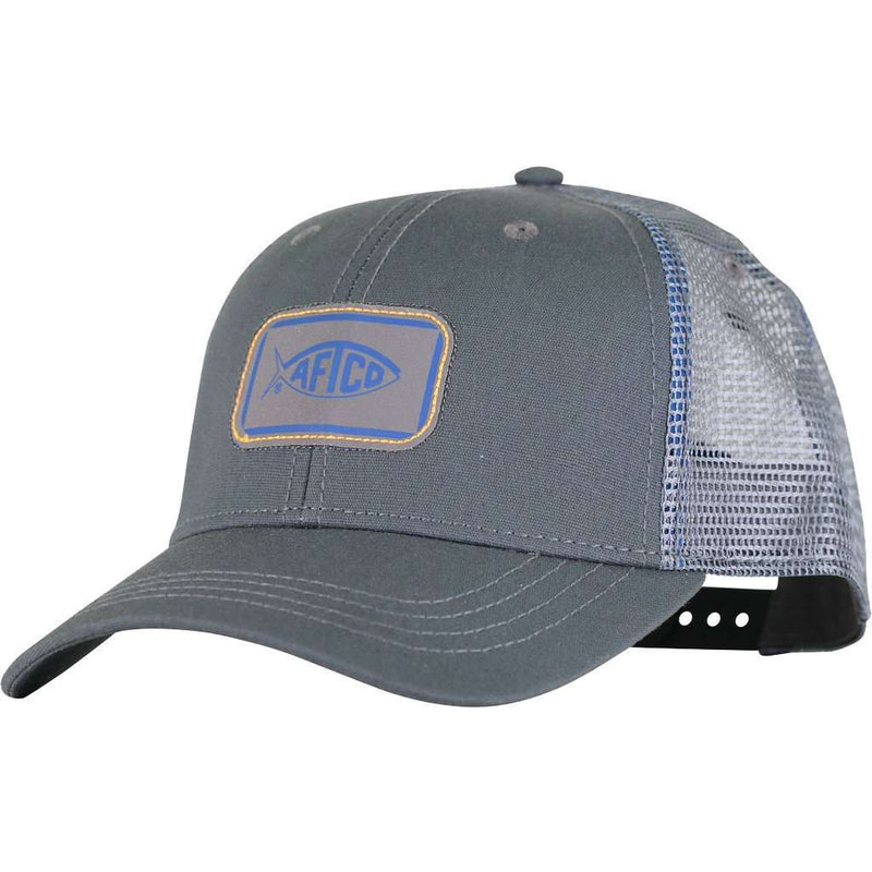 Squared Trucker Hat in Charcoal by AFTCO