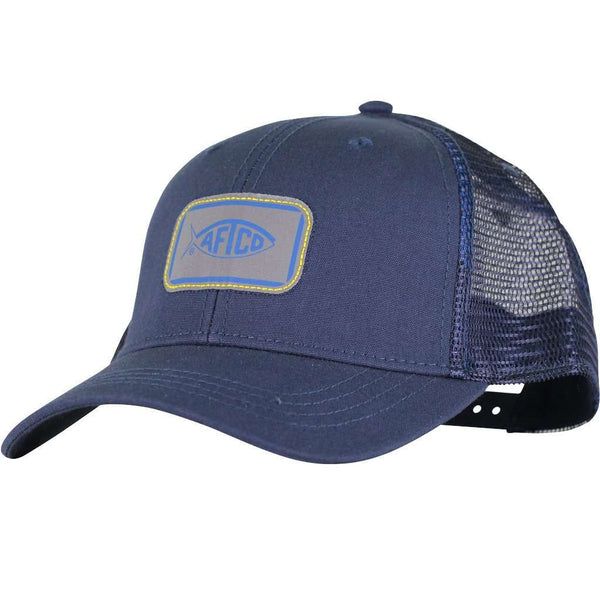 Squared Trucker Hat in Navy by AFTCO