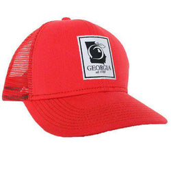6100ad1fe784c5 Peach State Pride State Patch Mesh Back Hat in Red – Country Club Prep