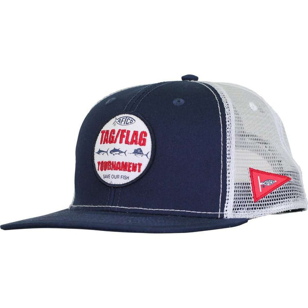Tag Trucker Hat in Navy by AFTCO