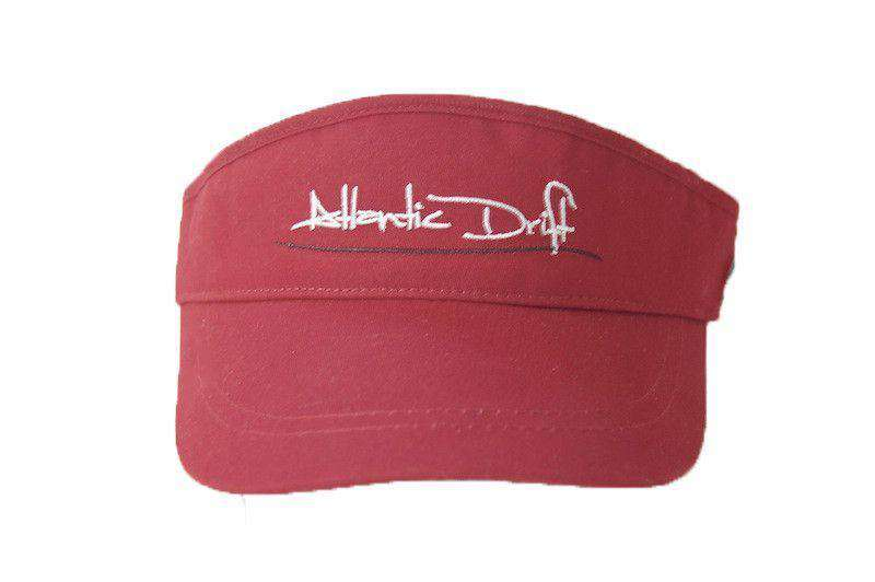Hats/Visors - Tailgate Visor In Garnet By Atlantic Drift - FINAL SALE