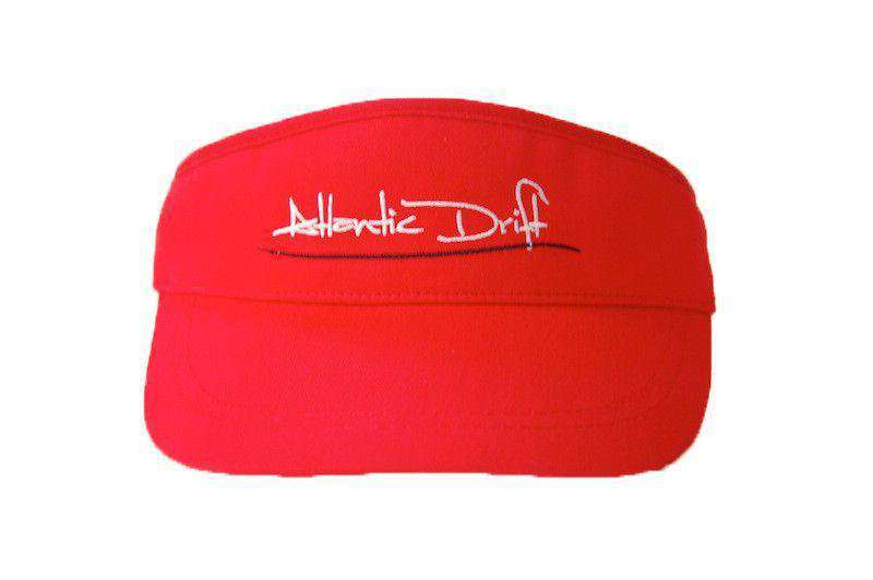 Hats/Visors - Tailgate Visor In Red By Atlantic Drift - FINAL SALE
