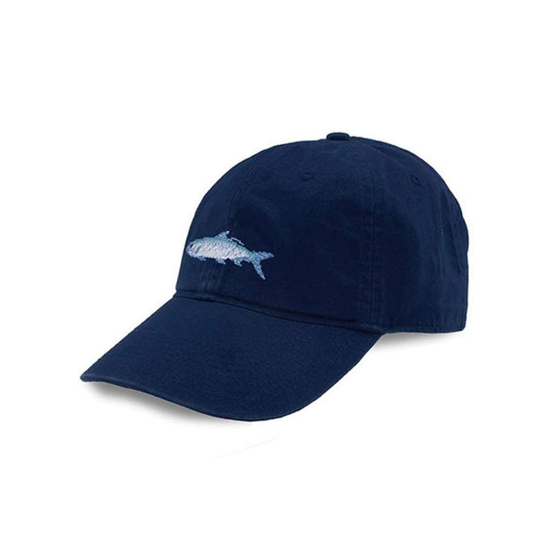 Tarpon Needlepoint Hat in Navy by Smathers & Branson