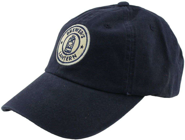 Tartan Logo Cap in Navy by Brewer's Lantern