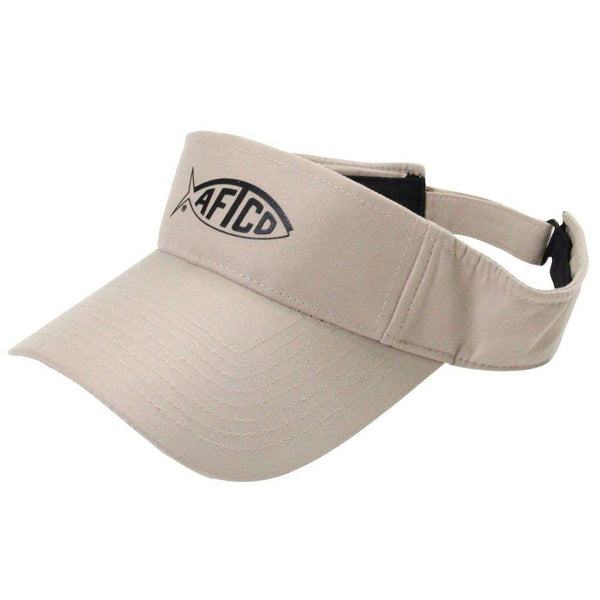 Hats/Visors - Tech Fishing Visor In Khaki By AFTCO
