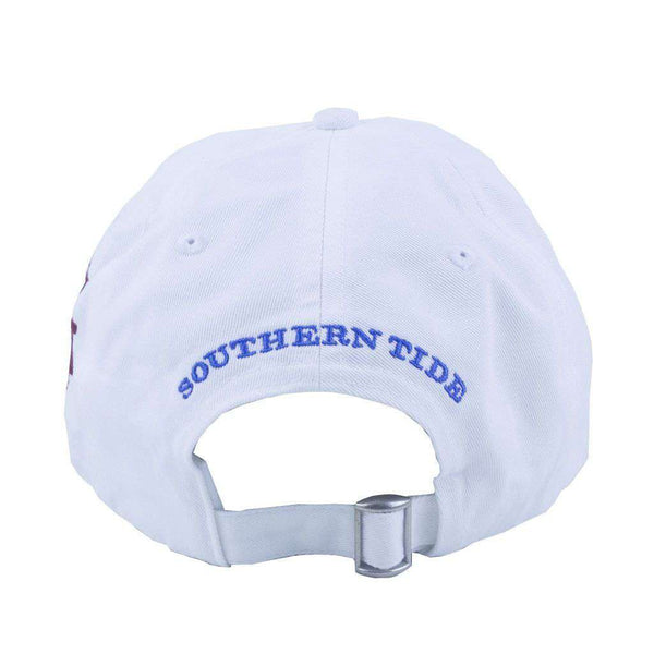 Hats/Visors - Texas A&M Collegiate Skipjack Hat In White By Southern Tide