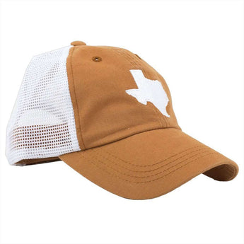 Hats Visors - Texas Austin Gameday Trucker Hat In Burnt Orange By State  Traditions 1cc4ac42ea91