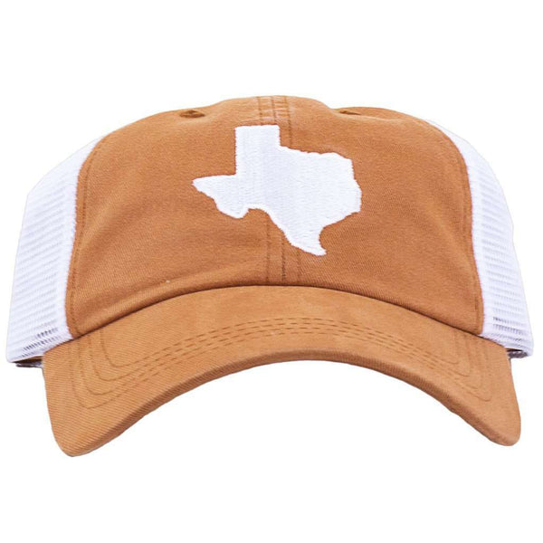 Hats/Visors - Texas Austin Gameday Trucker Hat In Burnt Orange By State Traditions