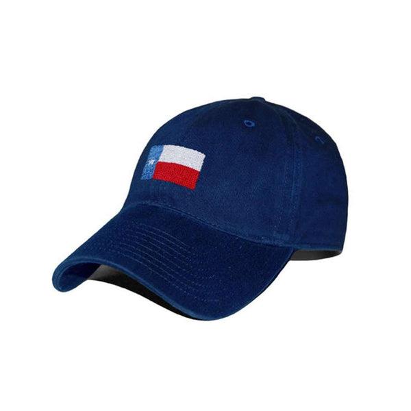 Hats/Visors - Texas Flag Needlepoint Hat In Navy By Smathers & Branson