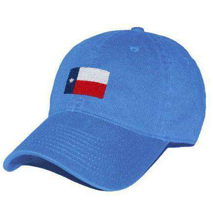 Hats/Visors - Texas Flag Needlepoint Hat In Royal Blue By Smathers & Branson