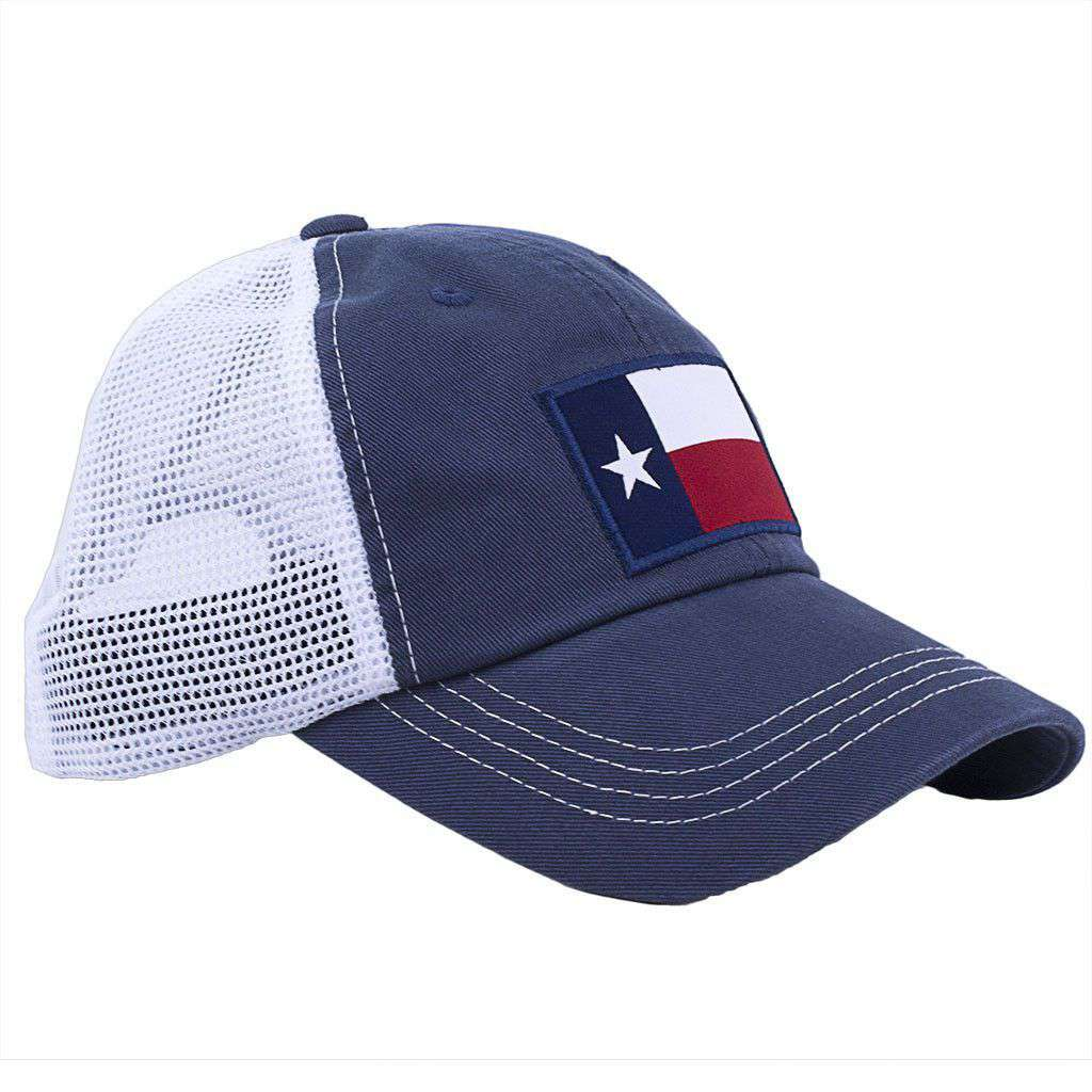 State Traditions Texas Flag Trucker Hat in Navy – Country Club Prep 3278cdb4418
