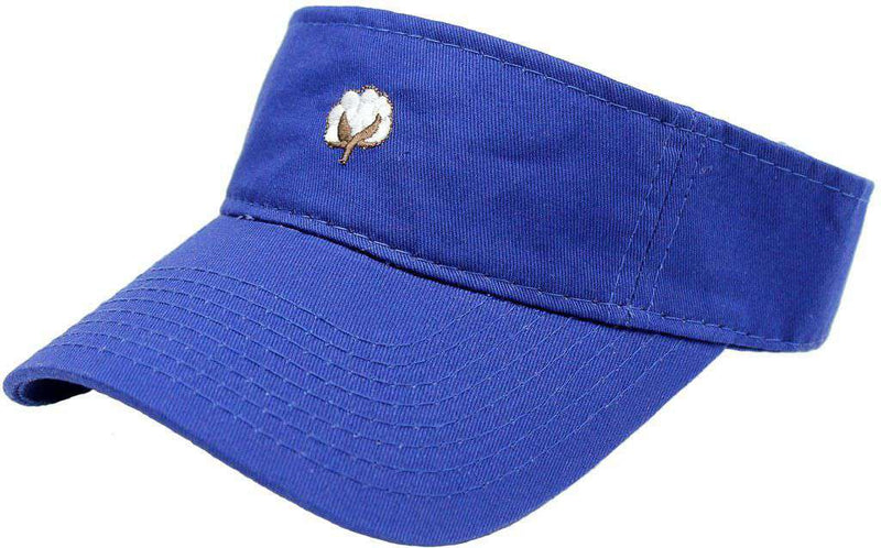 Hats/Visors - The Boll Visor In Blue By Cotton Brothers