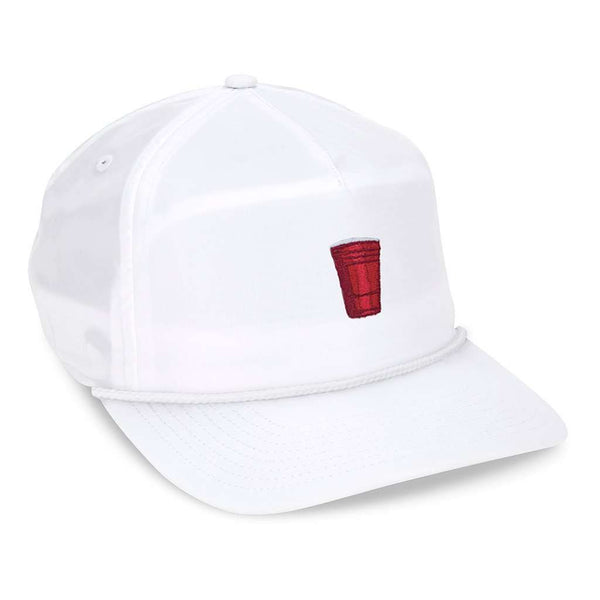 The Celebrity Shot Performance Rope Hat in White by Imperial Headwear - FINAL SALE