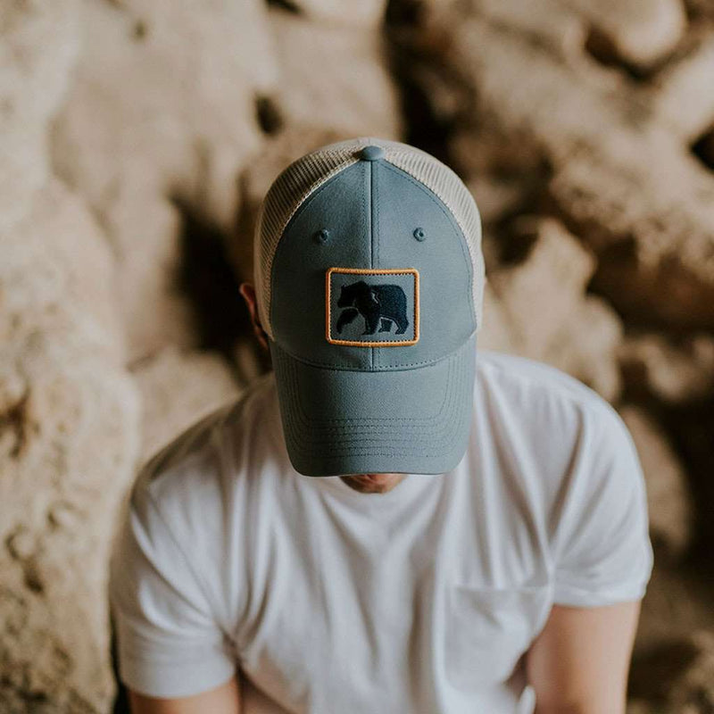 The Dano Trucker Cap in Faded Denim by The Normal Brand