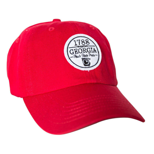 Hats/Visors - The Georgian Hat In Nantucket Red By Peach State Pride