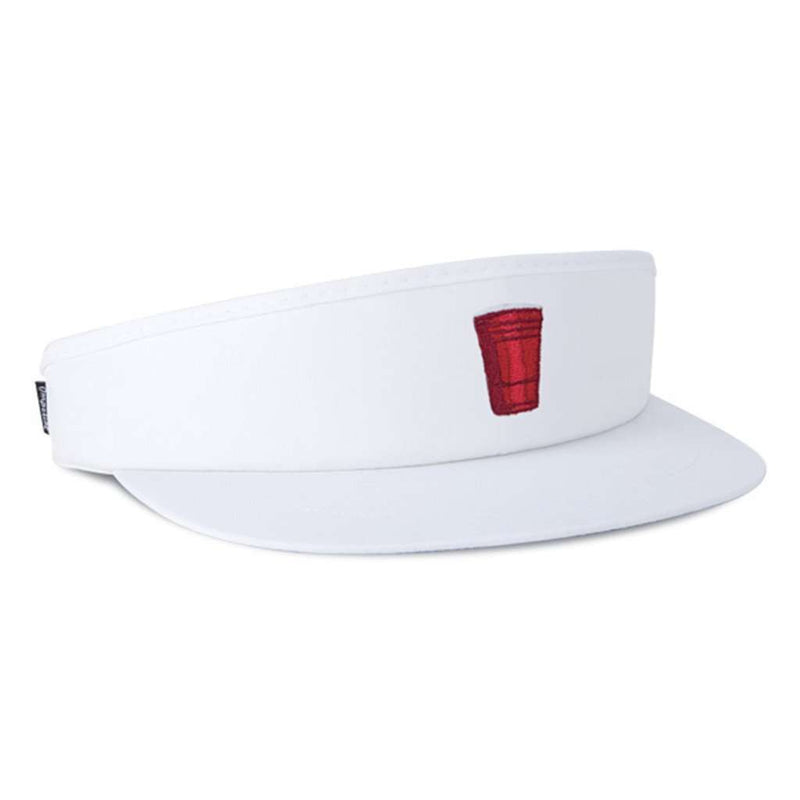 The House Rules Tour Visor in White by Imperial Headwear - FINAL SALE