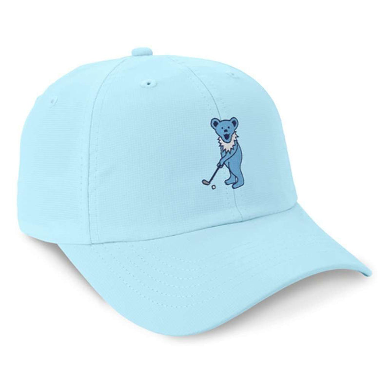 Hats/Visors - The Putting Bear Performance Hat In Light Blue By Imperial Headwear