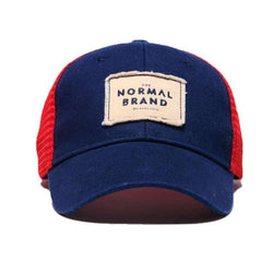 The Senior Cap in Red and Navy by The Normal Brand