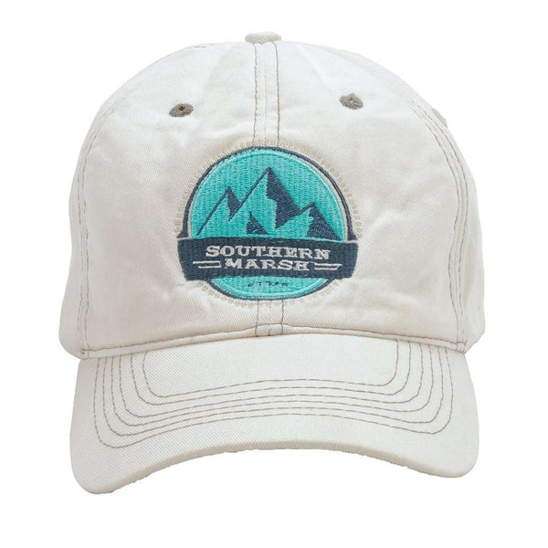 Thompson Twill Summit Hat in White by Southern Marsh