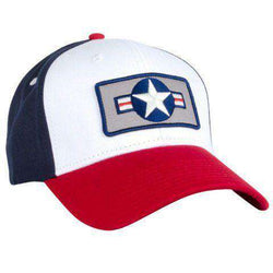 Hats/Visors - Top Flight All Twill Snapback Hat In Red, White And Blue By Rowdy Gentleman