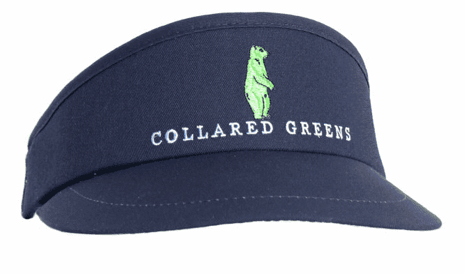 Hats/Visors - Tour Golf Visor In Navy By Collared Greens