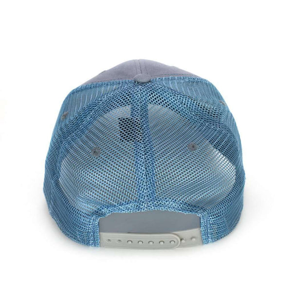 Trademark Badge Mesh Hat in Metal & Slate by The Southern Shirt Co. - FINAL SALE