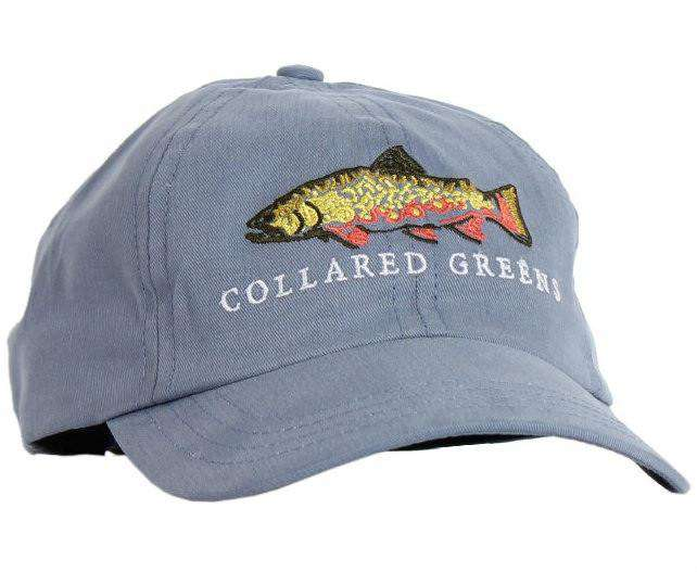 Hats/Visors - Trout Hat In Cool River Blue By Collared Greens