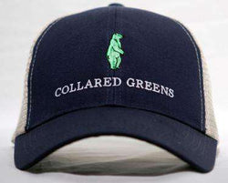 Hats/Visors - Trucker Hat In Evening Navy Blue By Collared Greens