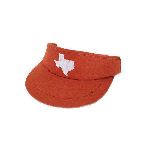 Hats/Visors - TX Austin Gameday Golf Visor In Burnt Orange By State Traditions