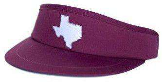 TX College Station Gameday Golf Visor in Maroon by State Traditions - Country Club Prep