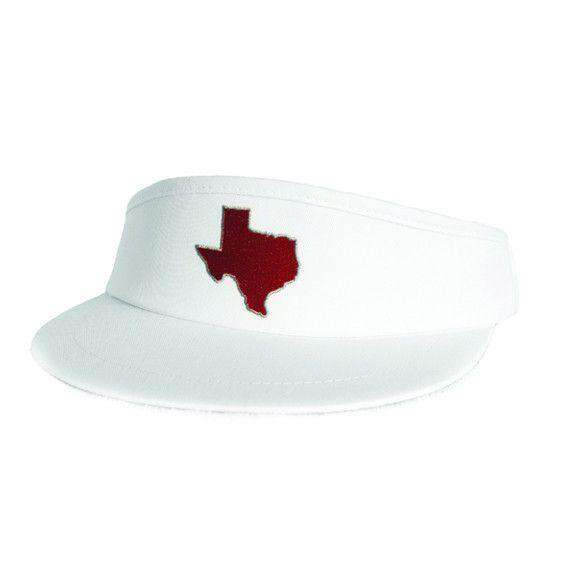 Hats/Visors - TX College Station Gameday Golf Visor In White By State Traditions