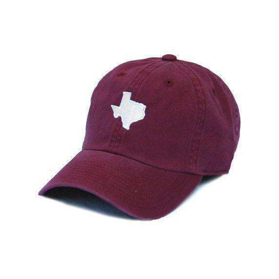 TX College Station Gameday Hat in Maroon by State Traditions - Country Club Prep