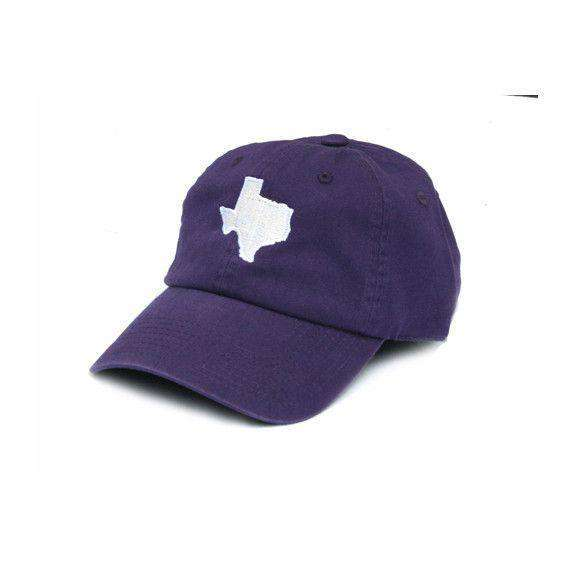 TX Fort Worth Gameday Hat in Purple by State Traditions - Country Club Prep
