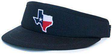TX Traditional Golf Visor in Black by State Traditions - Country Club Prep