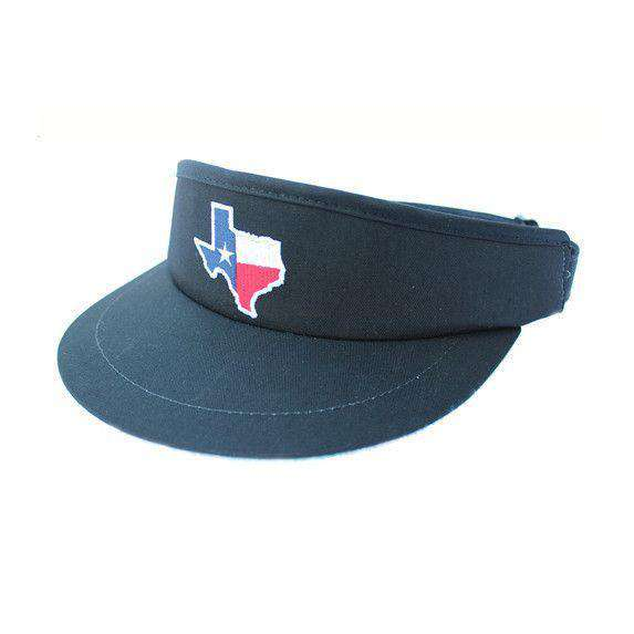 Hats/Visors - TX Traditional Golf Visor In Navy By State Traditions