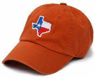 TX Traditional Hat in Burnt Orange by State Traditions - Country Club Prep