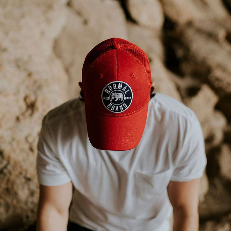 Hats/Visors - University Bear Cap In Red By The Normal Brand