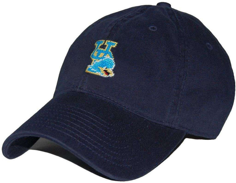 Hats/Visors - University Of Delaware Needlepoint Hat In Navy By Smathers & Branson
