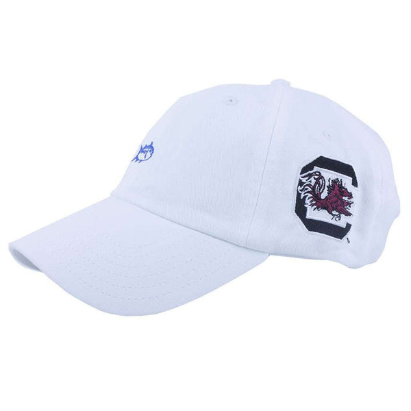 Hats/Visors - University Of South Carolina Collegiate Skipjack Hat In White By Southern Tide