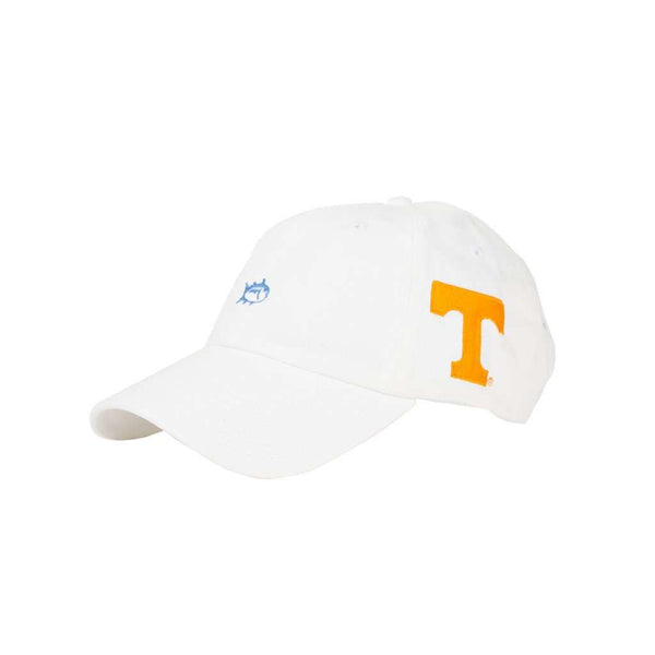 Hats/Visors - University Of Tennessee Mini Skipjack Hat In White By Southern Tide
