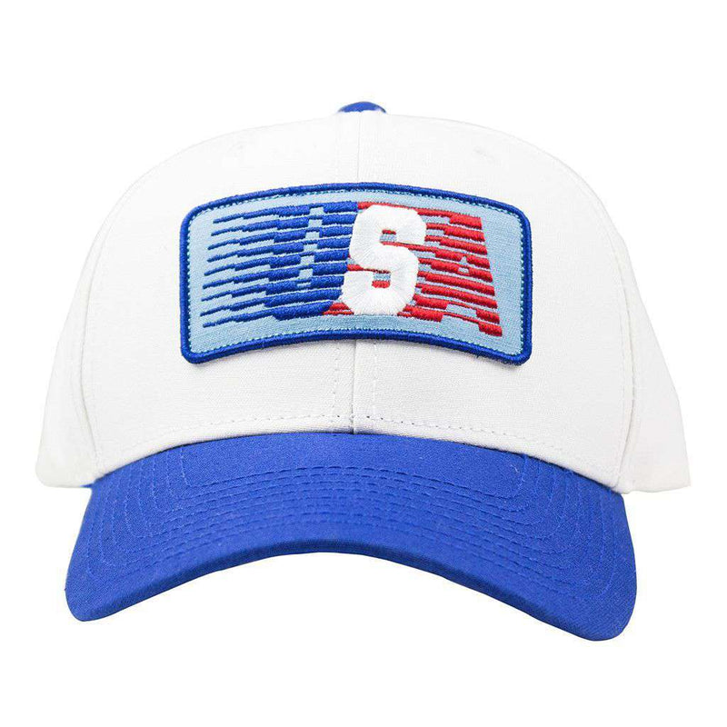 USA Patch Hat in White Twill by Rowdy Gentleman