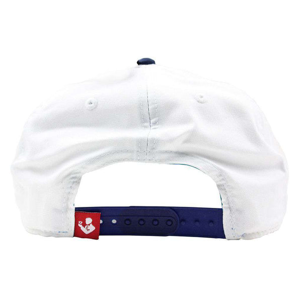 USA Streaking Rope Hat in White by Rowdy Gentleman