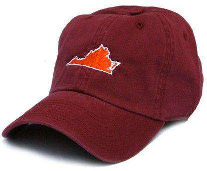 Hats/Visors - VA Blacksburg Gameday Hat In Maroon By State Traditions
