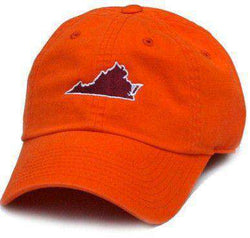 Hats/Visors - VA Blacksburg Gameday Hat In Orange By State Traditions